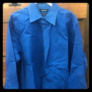 👕MURANO Dress Shirt XL 16 1/2 x 34 blue